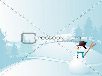 winter design with a snowman