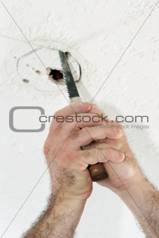 Cutting Hole For Ceiling Box