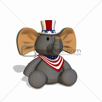 GOP Stuffed Elephant