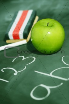 Green apple for school