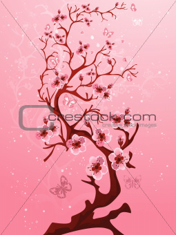 Blossoming tree.