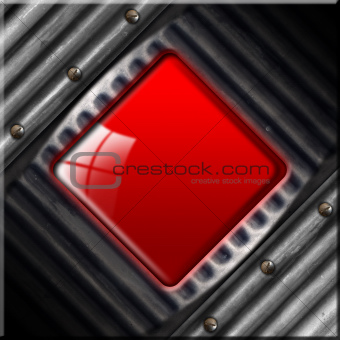 Grunge Metallic and Red Background