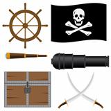Set of pirate&#39;s icons.