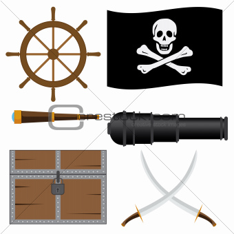 Set of pirate's icons.