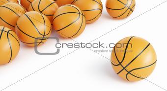 background basketball ballls