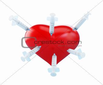heart syringe stabbing