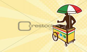 Italian ice push cart vending vendor