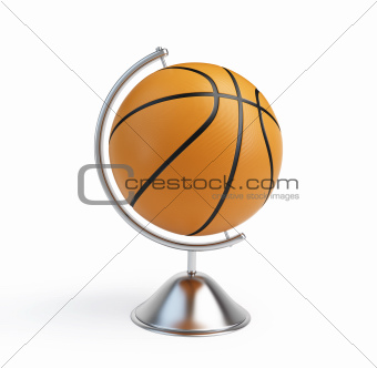 basketball ball globe