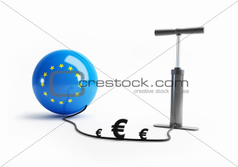European Union pump euro money