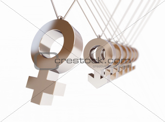 newton's cradle symbol women