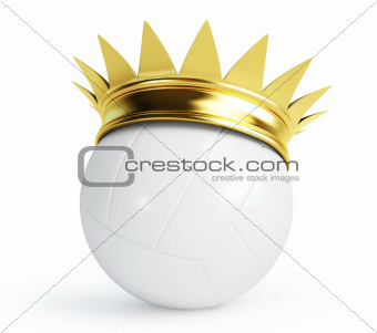 volleyball ball gold crown