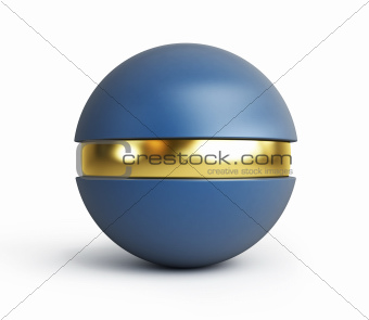 plastic ball with a gold insert