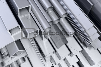 metal square background
