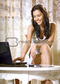 girl with notebook computer