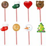 Xmas Color Lollipops Set