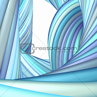 3d abstract render blue purple organic wave pattern