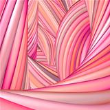 3d abstract render pink red organic wave pattern