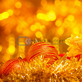 New Year decorative still life