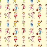seamless sport player pattern