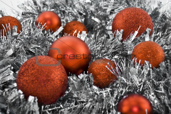 Garland and Christmas balls
