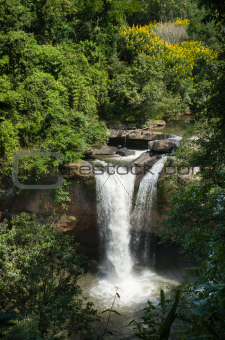 Top View of Haew suwat waterfall