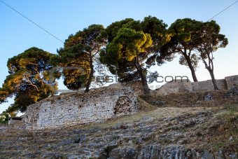 Roman Ampitheater Ruins in the Ancient Town of Pula, Istria, Cro