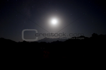 Sinai Desert at Night