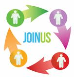 Join Us Social Network Concept
