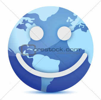 smiling Earth globe