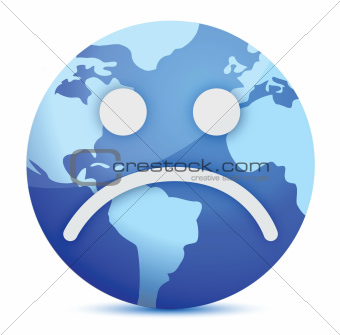 sad Earth globe