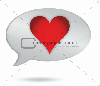 heart speech bubble
