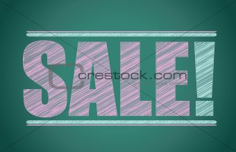 sale colorful sign blackboard