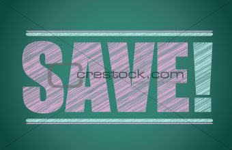 save colorful sign