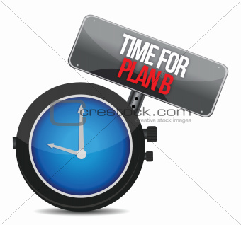 image of a nice clock with time for Plan B