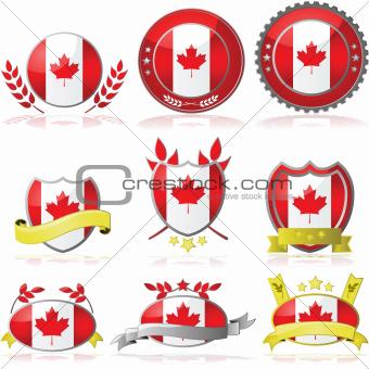 Canada badges