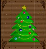 straw mat Christmas tree