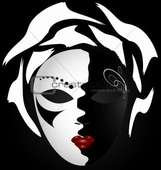 black-white mask