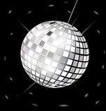black-white disco ball