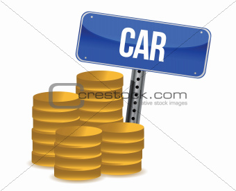 car savings concept
