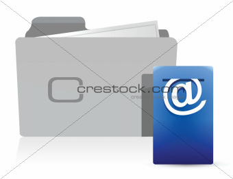 folder with Postbox Icon