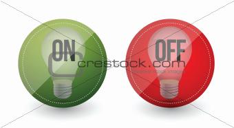 light bulb idea on and off