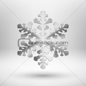 Abstract metal Christmas snowflake
