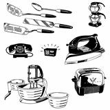 Vector Retro Appliance Graphics