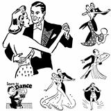 Vector Retro Ballroom Dancing Graphics