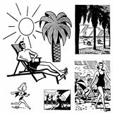 Vector Retro Vacation Beach Graphics