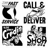 Vector Retro Advertising Graphics