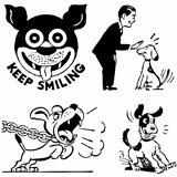Vector Retro Dog Graphics