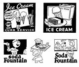 Vector Retro Ice Cream Graphics
