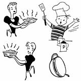 Vector Retro Cooking Graphics
