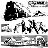 Vector Retro Train Graphics